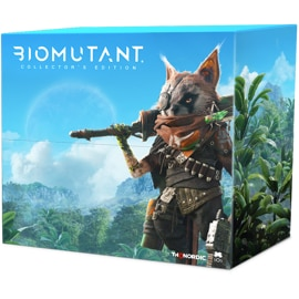 Front view of Biomutant Collector's Edition box for Xbox One