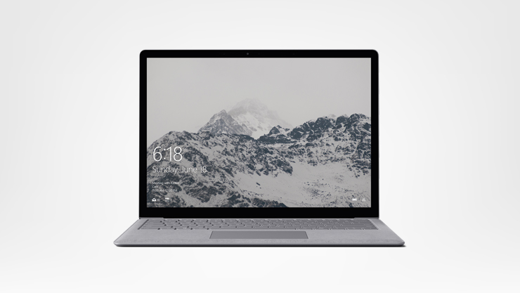 Platinum Surface Laptop facing forward