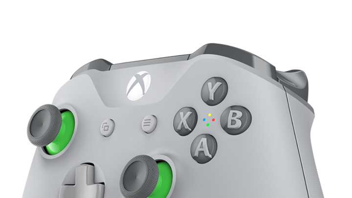 Xbox Wireless Controller – Grey/Green - Microsoft
