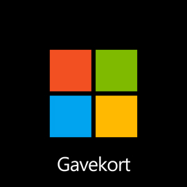 Microsoft-gavekort – digital kode: 400,00 kr.