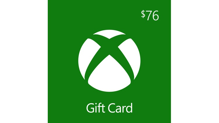 $76.00 Xbox Digital Gift Card