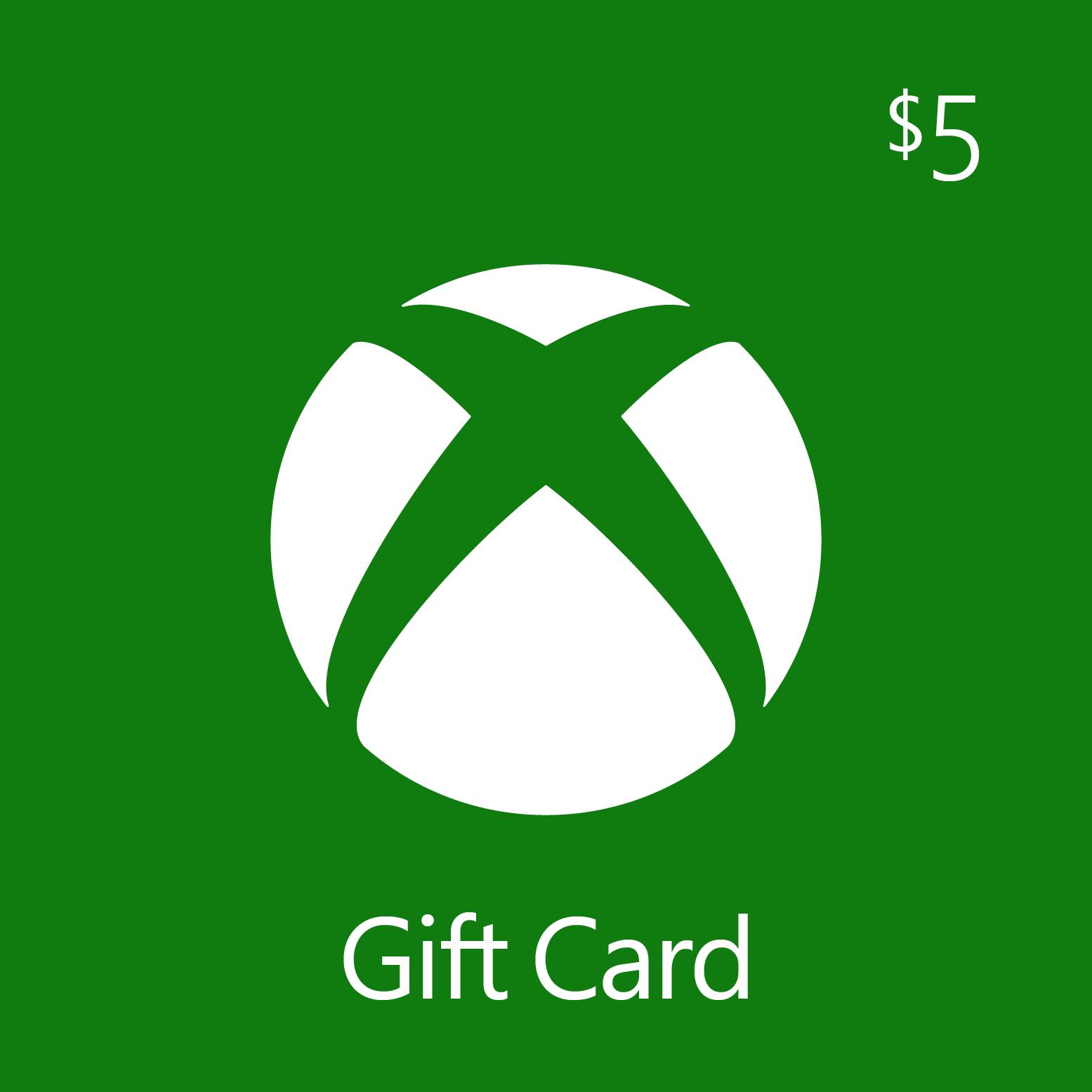 $5.00 Xbox Digital Gift Card