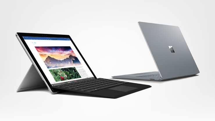 Surface Pro + Surface Laptop
