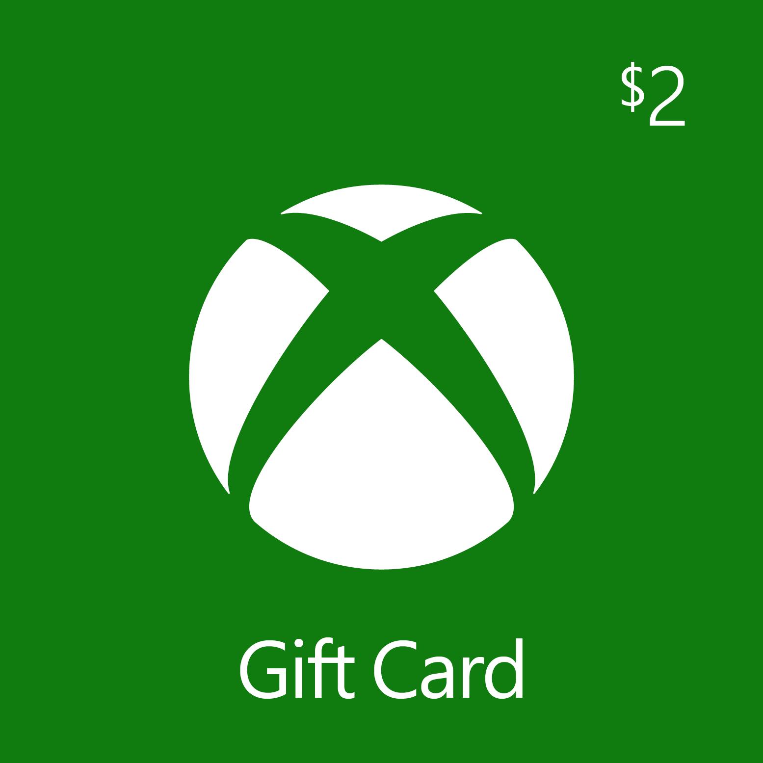 $2.00 Xbox Digital Gift Card