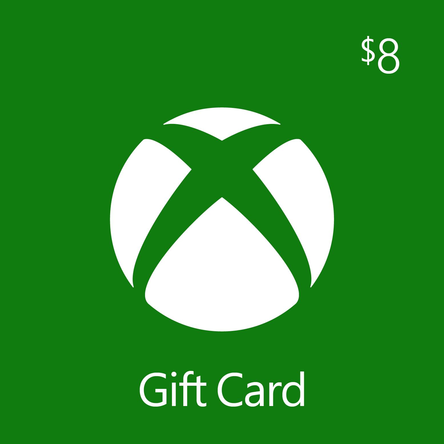 $8.00 Xbox Digital Gift Card
