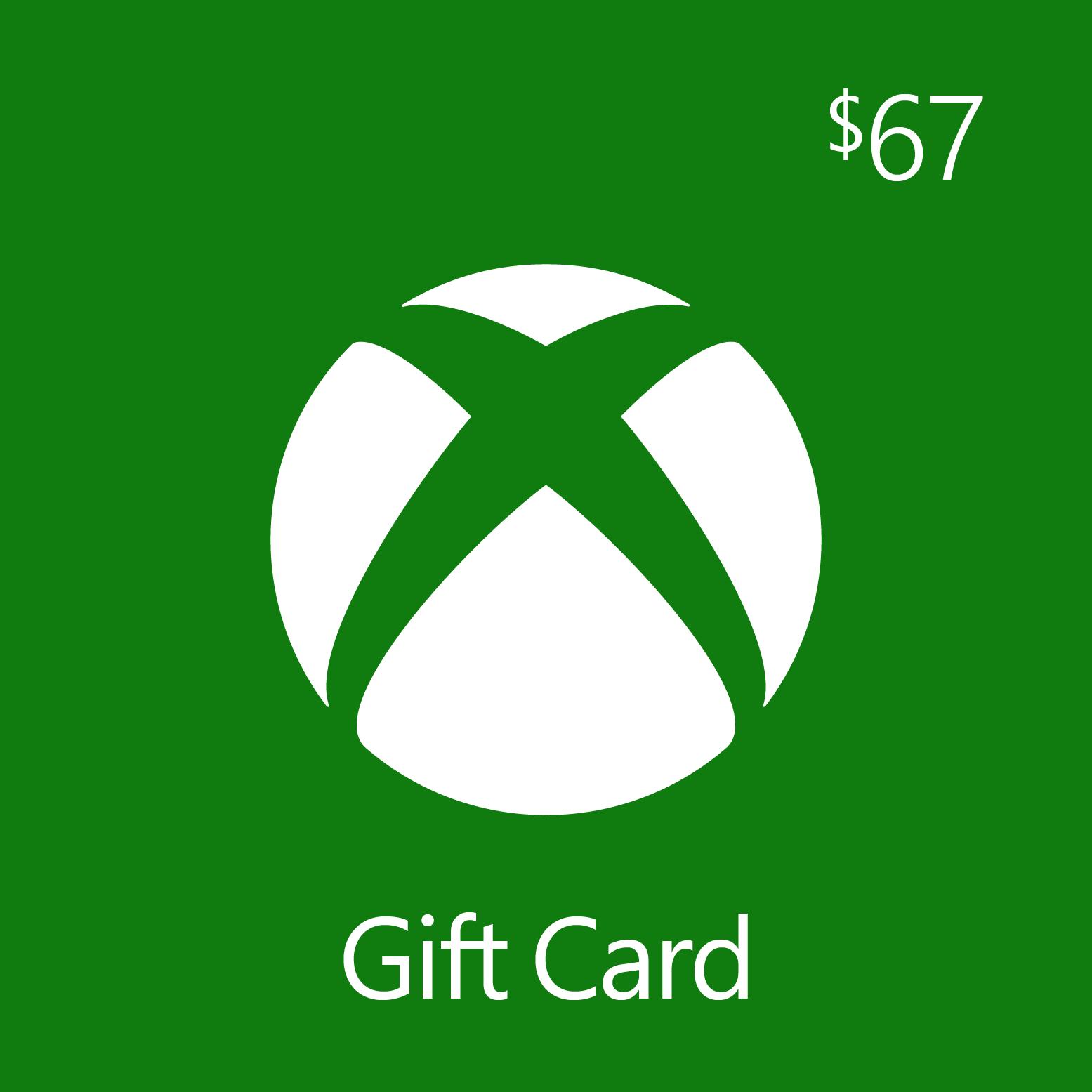 $67.00 Xbox Digital Gift Card