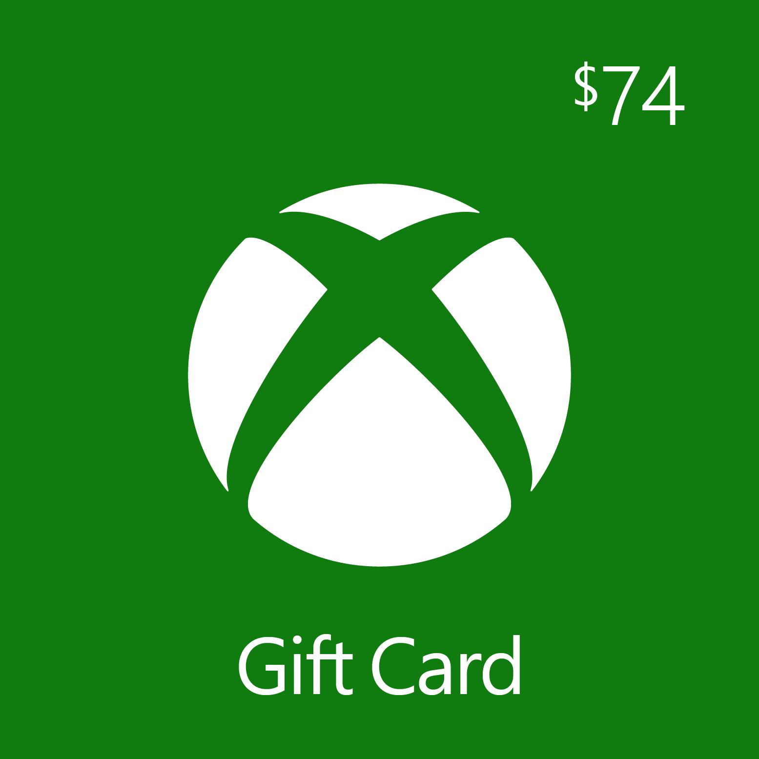 $74.00 Xbox Digital Gift Card
