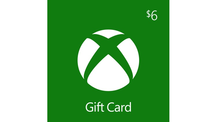 $6.00 Xbox Digital Gift Card