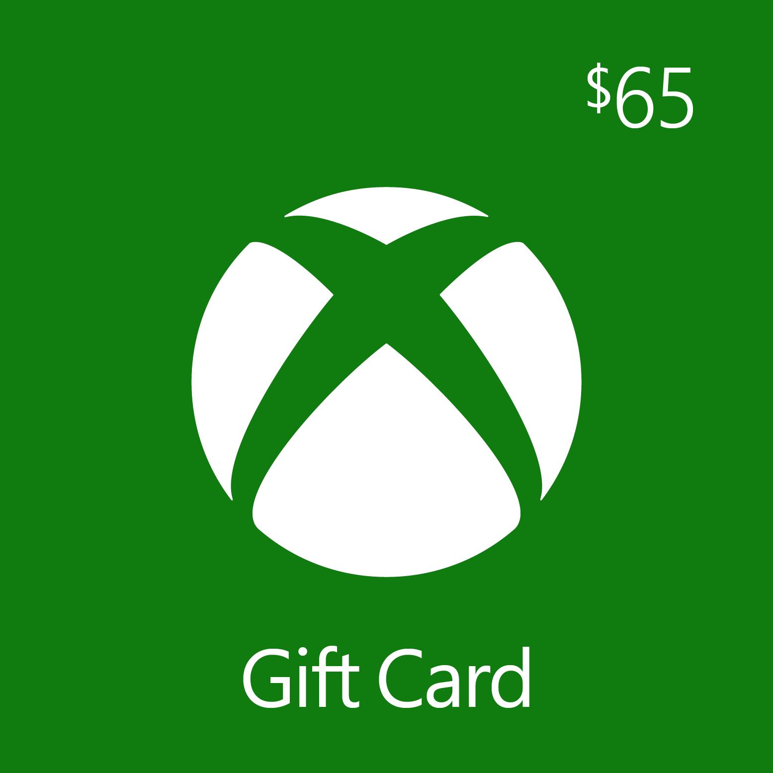 $65.00 Xbox Digital Gift Card