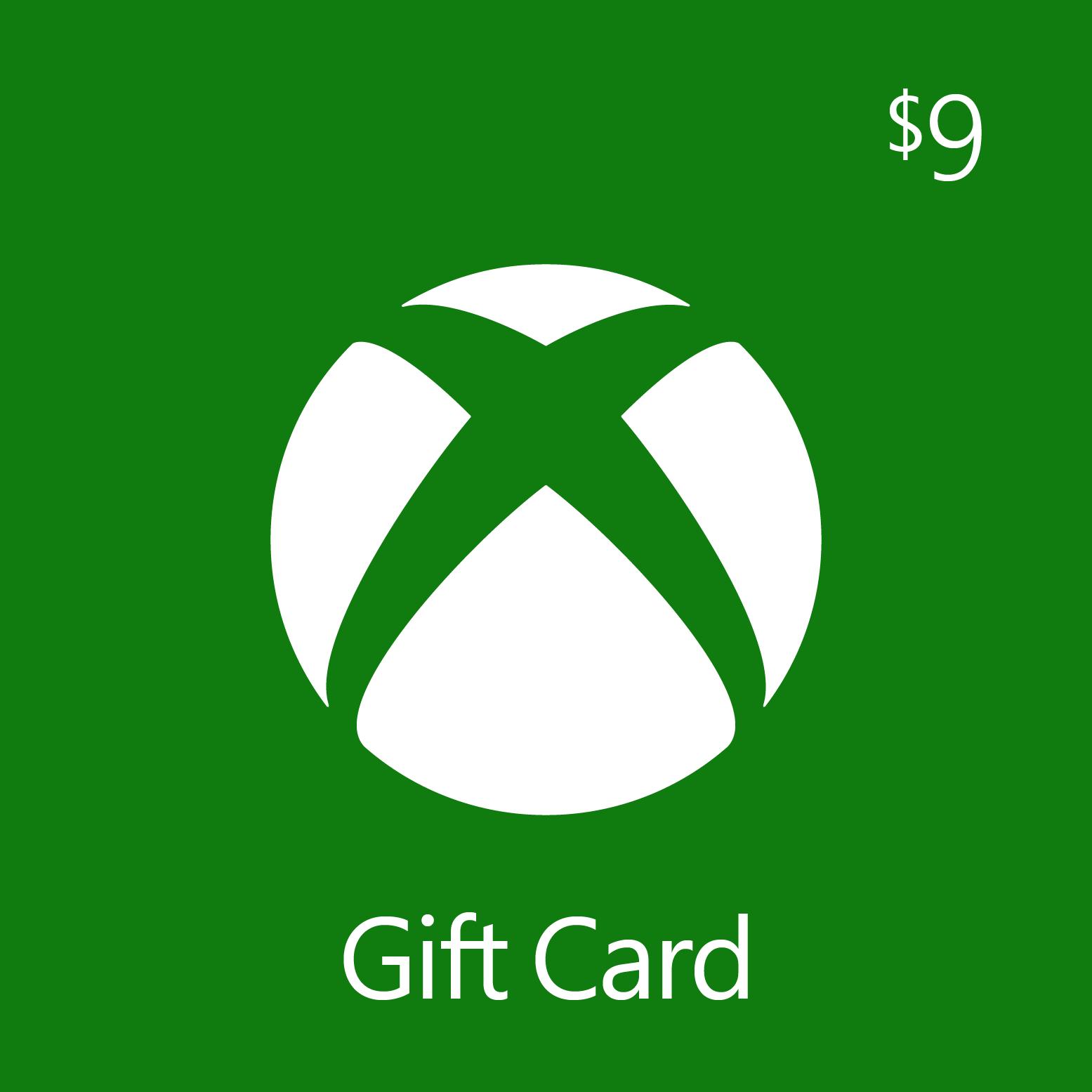 $9.00 Xbox Digital Gift Card