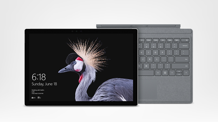 Surface pro and type cover