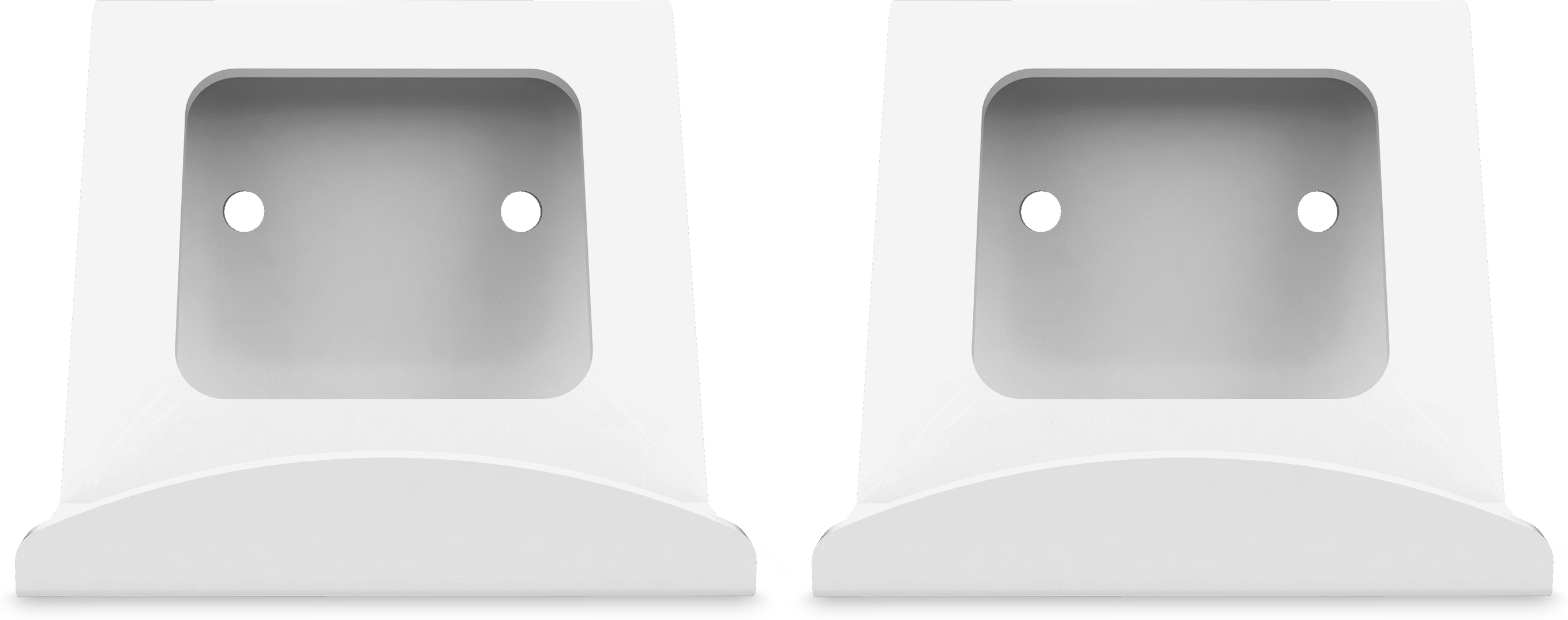 Forza Designs Xbox Controller Wall Mount in white from a front right angle
