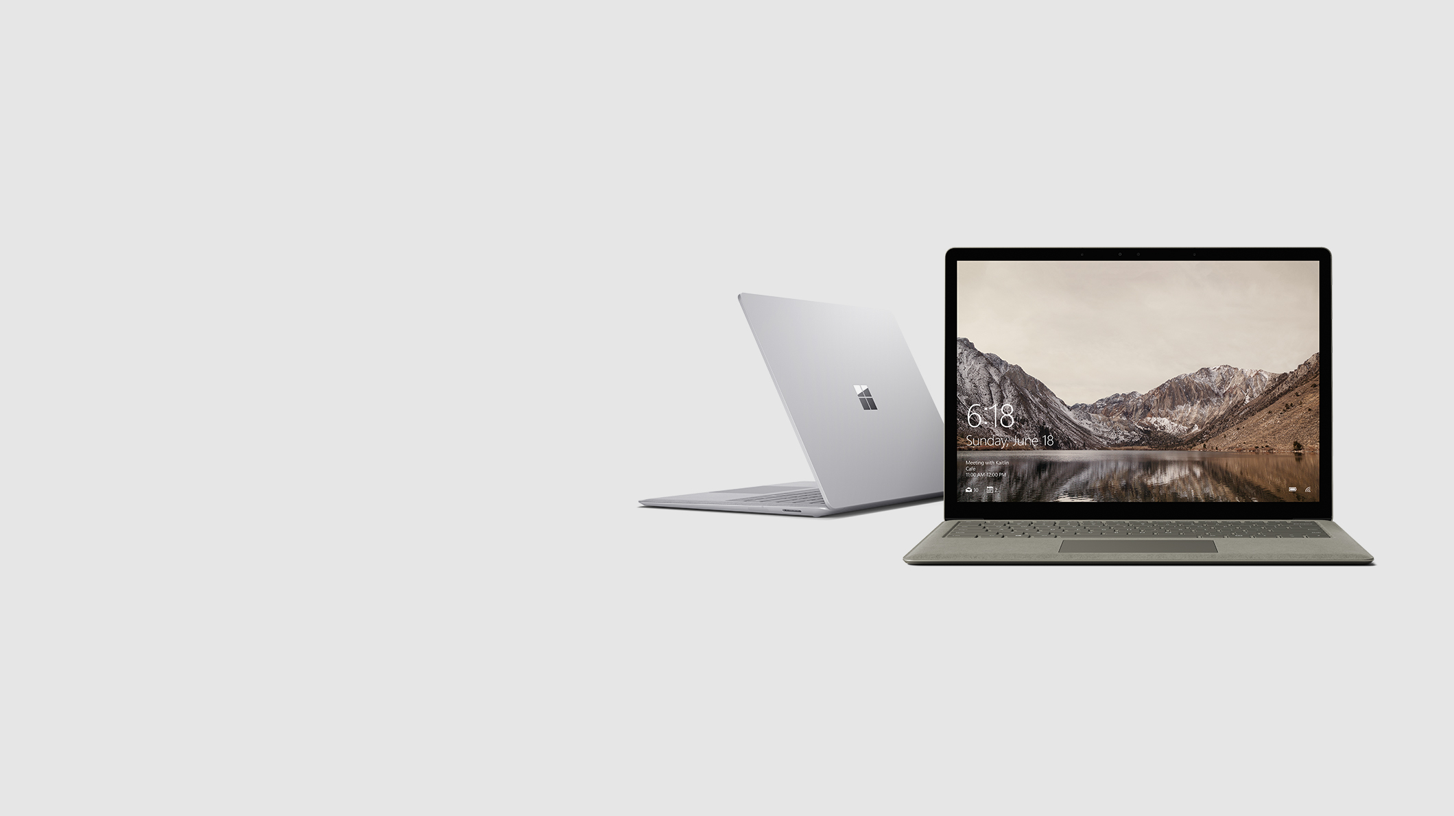 Surface Laptop in two colors - Gold and Platinum
