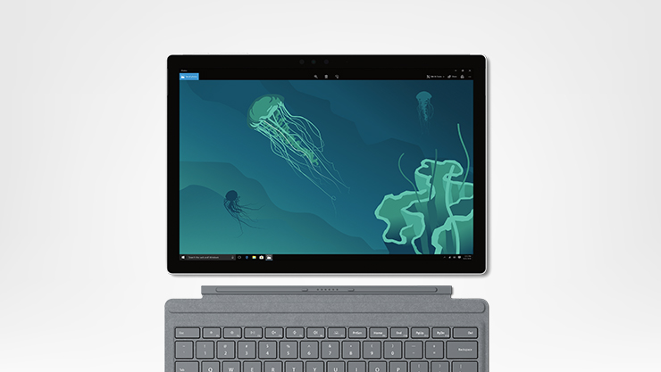 Surface Pro with platinum typecover