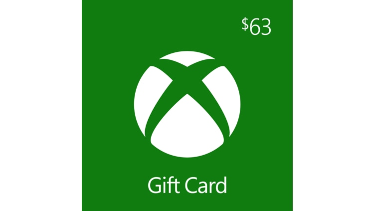 $63.00 Xbox Digital Gift Card