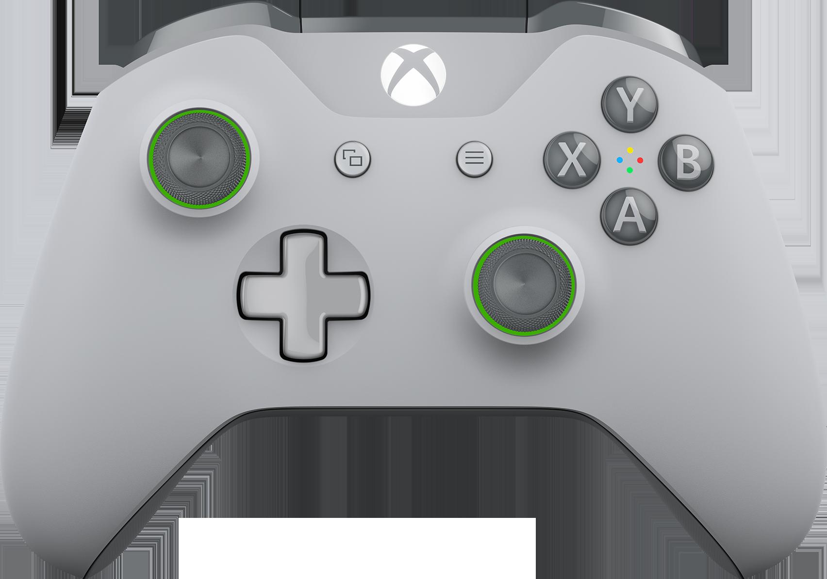 Xbox Wireless Controller – Grey/Green - Microsoft