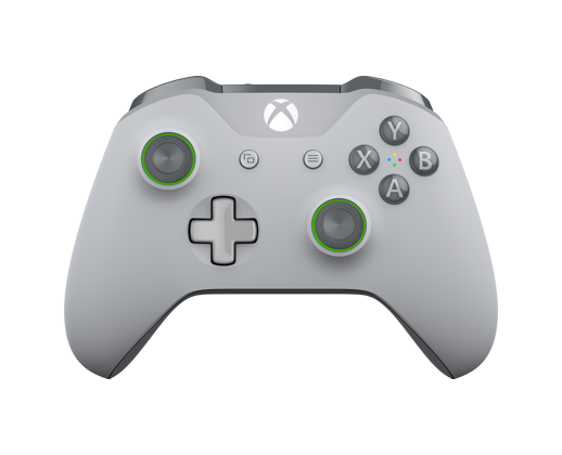 Front view of Xbox Wireless Controller – Grey/Green