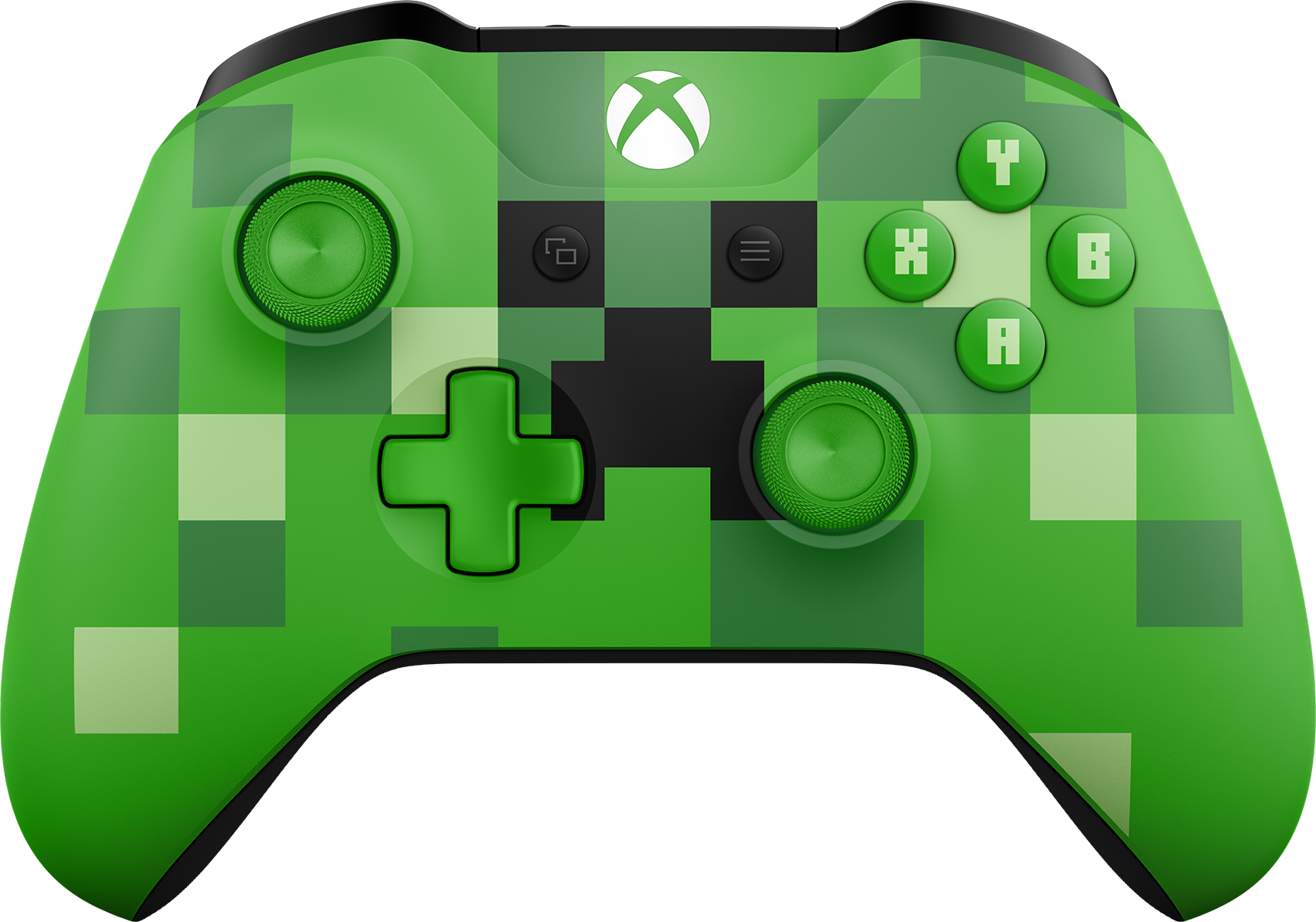 Front view of Xbox Wireless Controller – Minecraft Creeper