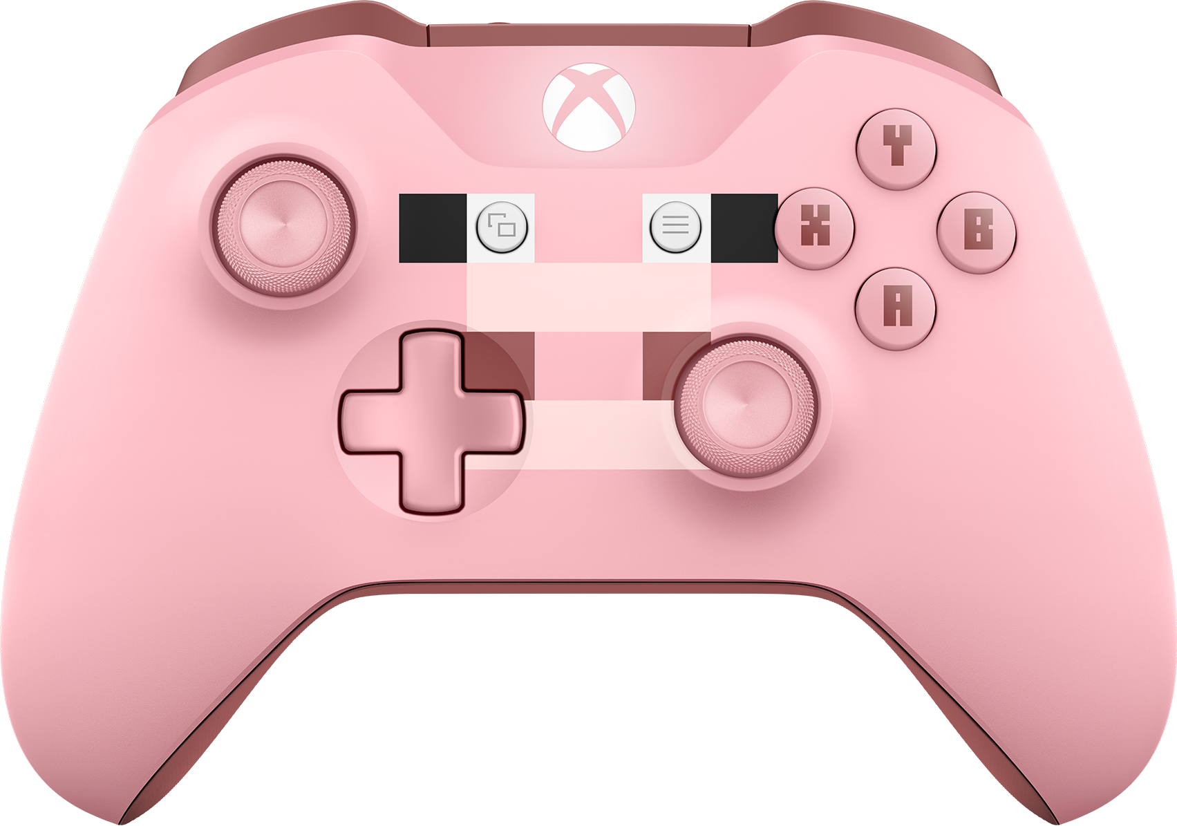 Front view of Xbox Wireless Controller – Minecraft Pig