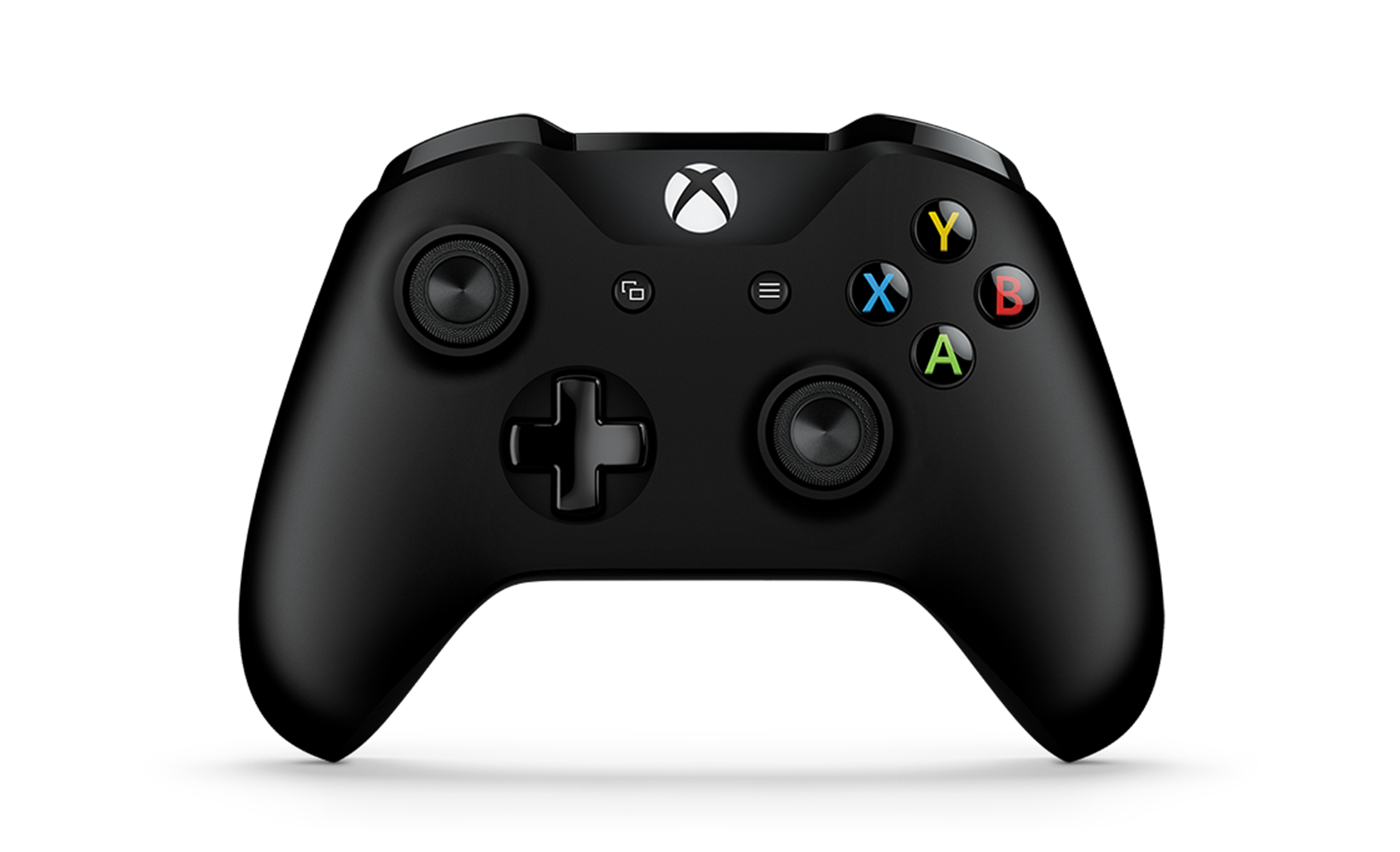Front view of Black Wireless Controller