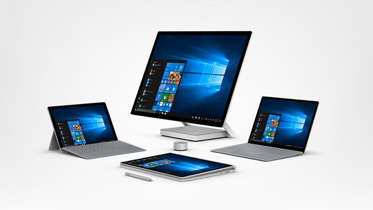 Todos os dispositivos Surface