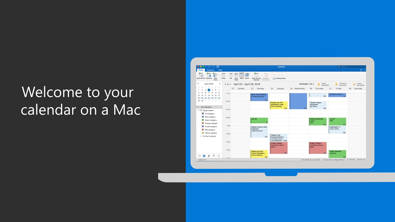 Welcome to your calendar on a Mac