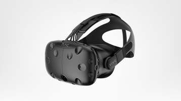 HTC Vive headset angled to the left