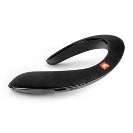 Rear left view of the JBL Soundgear Wearable Speaker