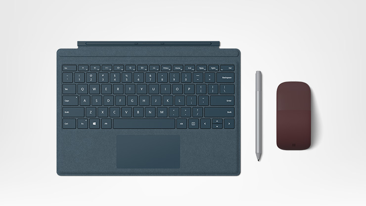 Surface Pro Type Cover, Surface Pen, and Surface Arc Mouse