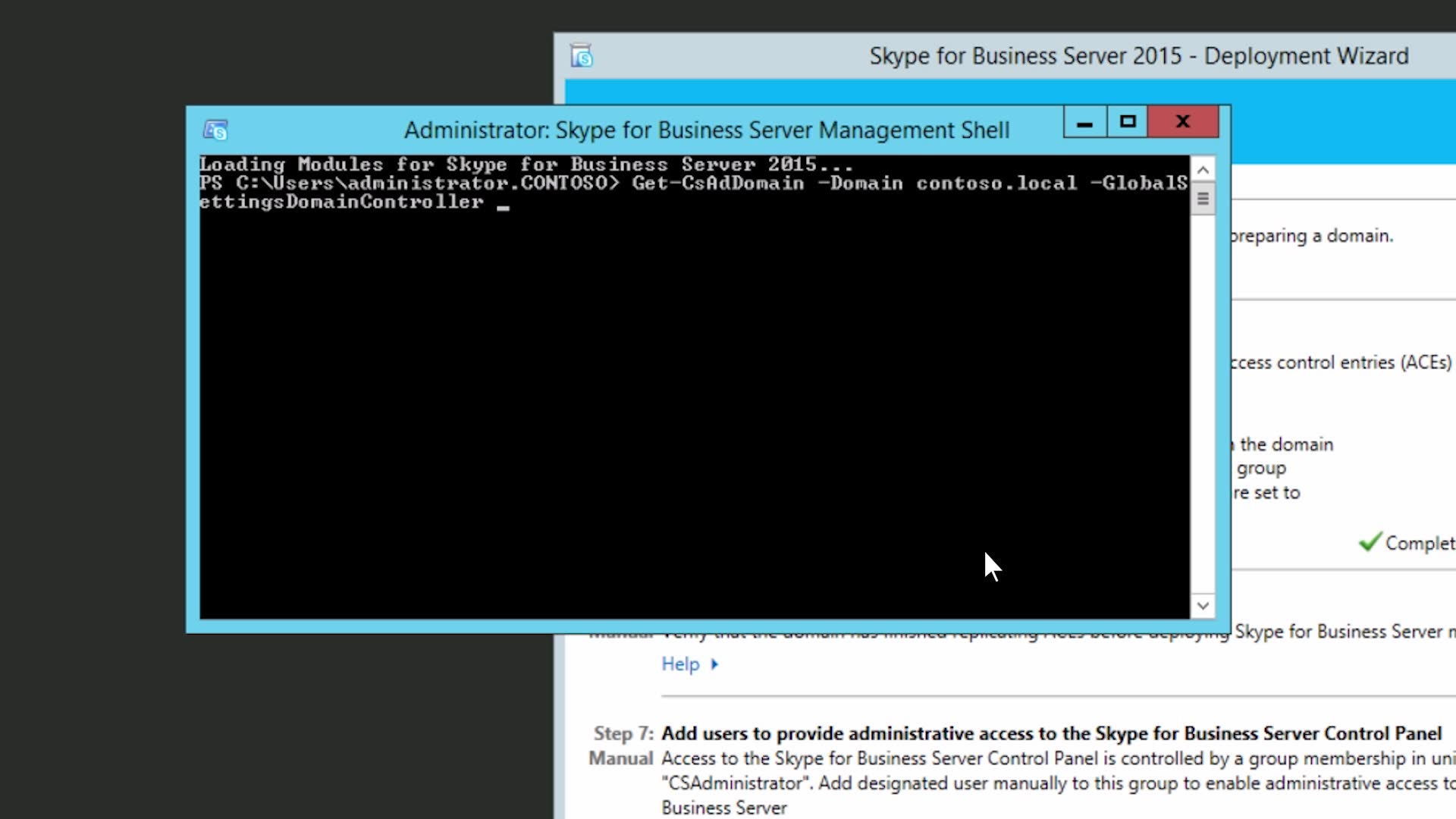 Prepare Active Directory for Skype for Business Server