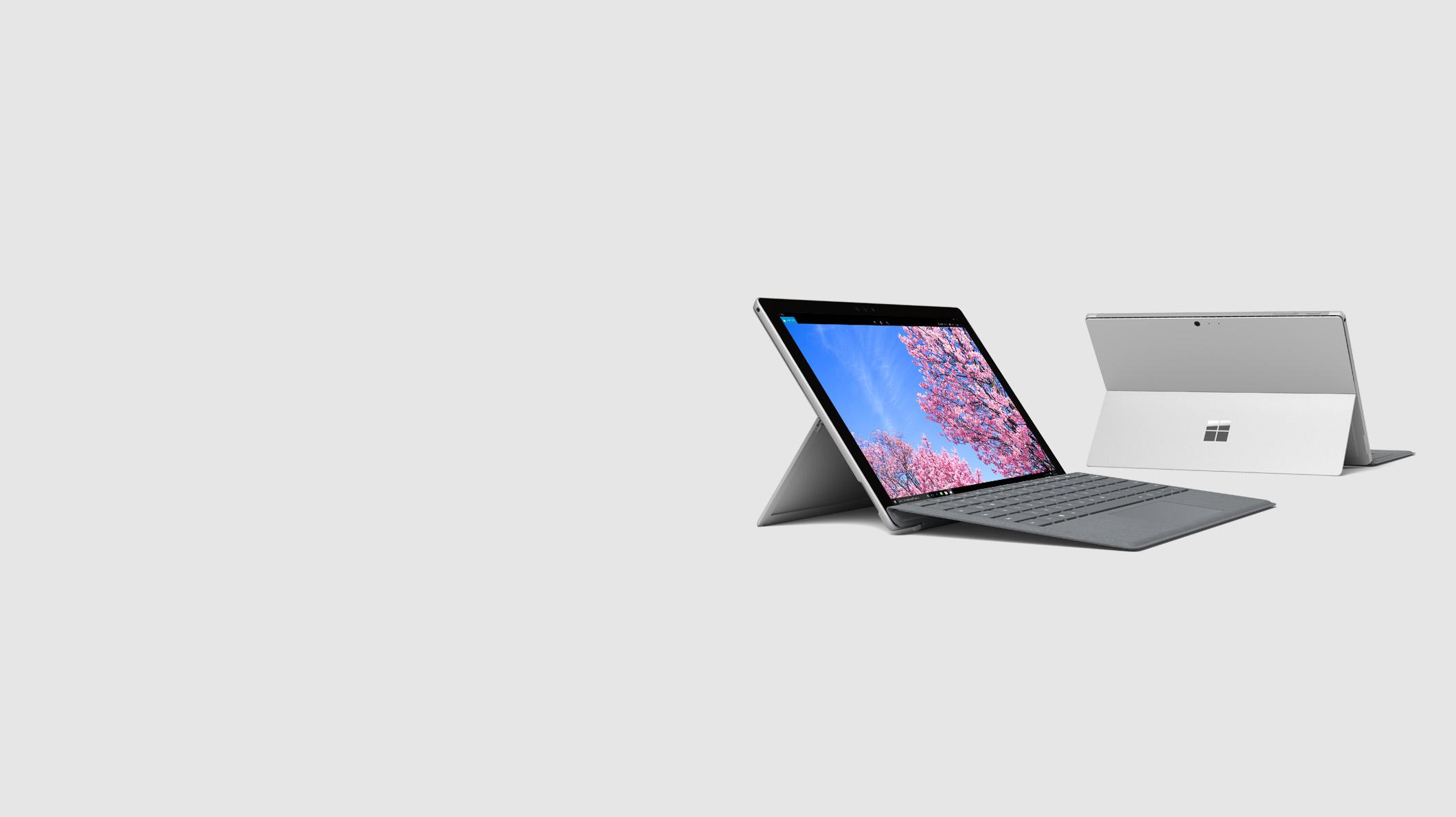 Surface Pro 5 avec clavier Type Cover Platine