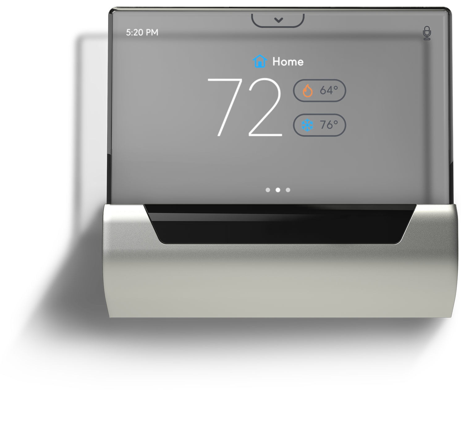 JCI GLAS Smart Thermostat, front view