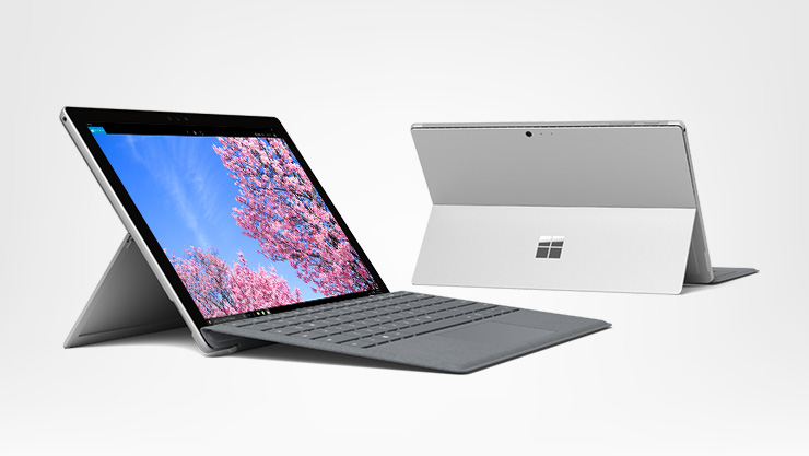Surface Pro 5 met platinum Type Cover