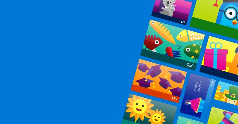 Shop for digital gift cards