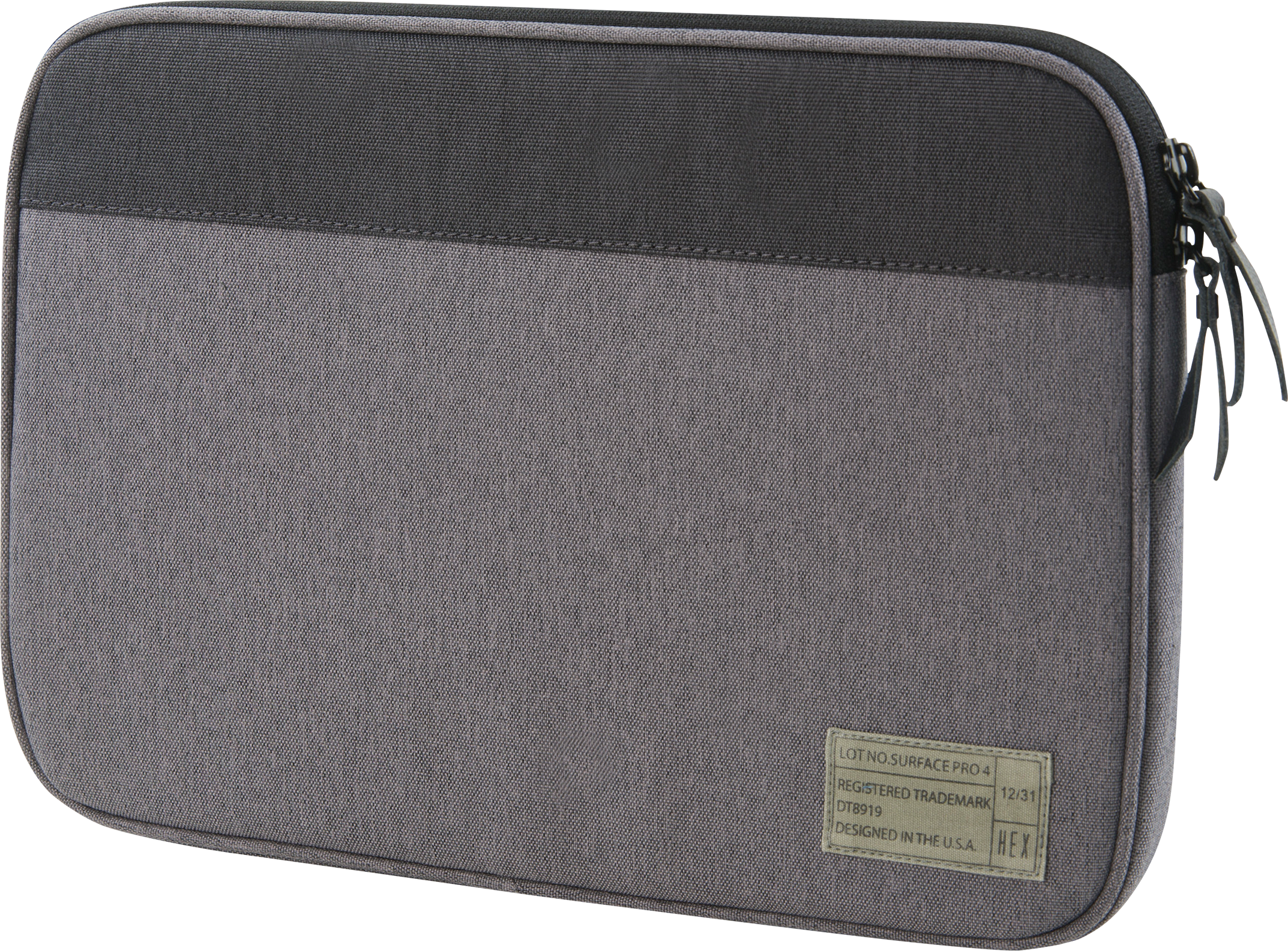 HEX Surface Pro 4 Sleeve with Rear Pocket (Grey)