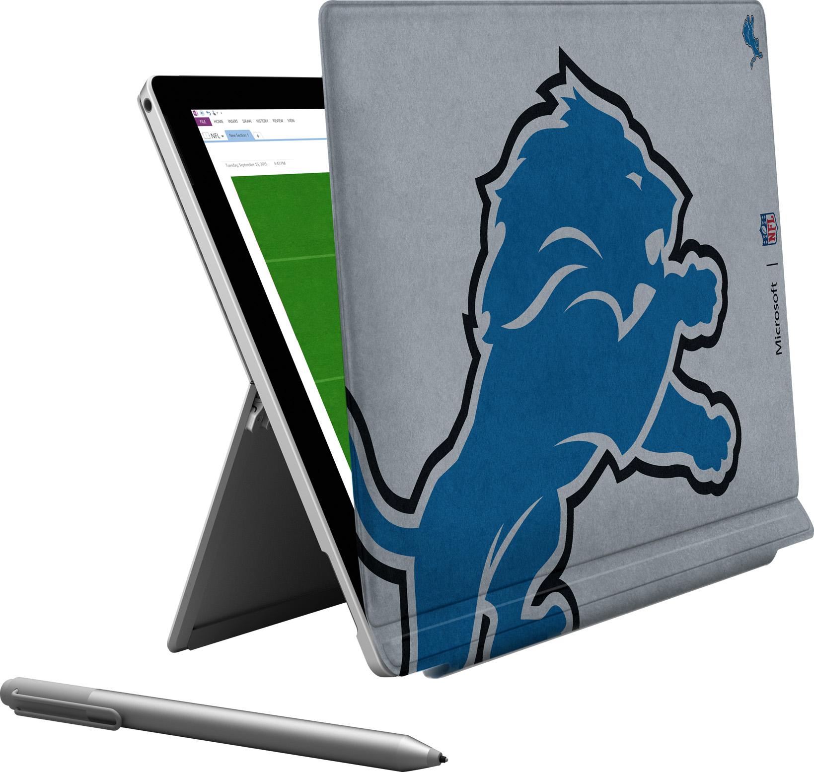 Microsoft Surface Pro 4 Detroit Lions Type Cover