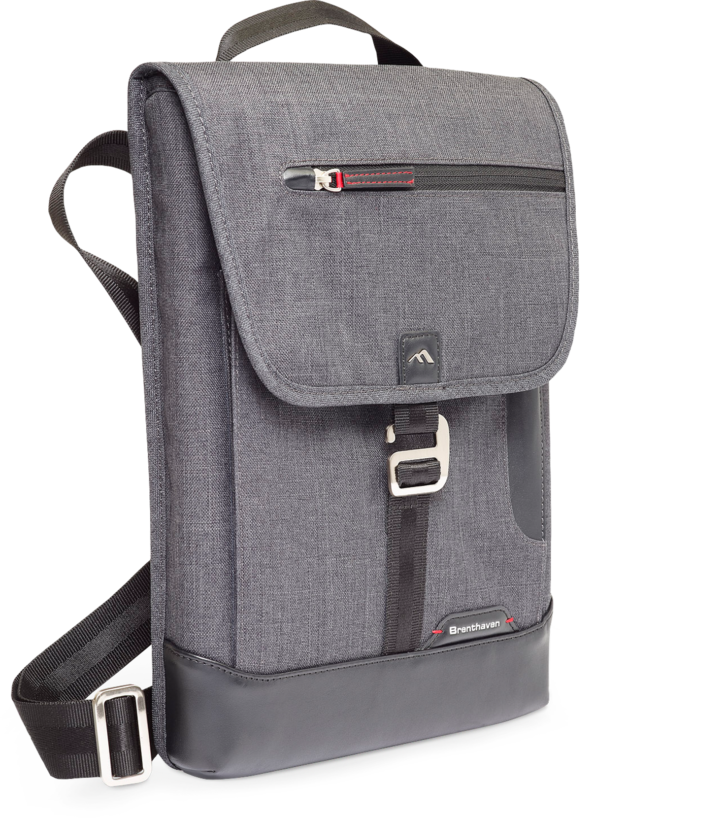 Brenthaven Collins Vertical Messenger Bag for Surface Pro 4 (Graphite)