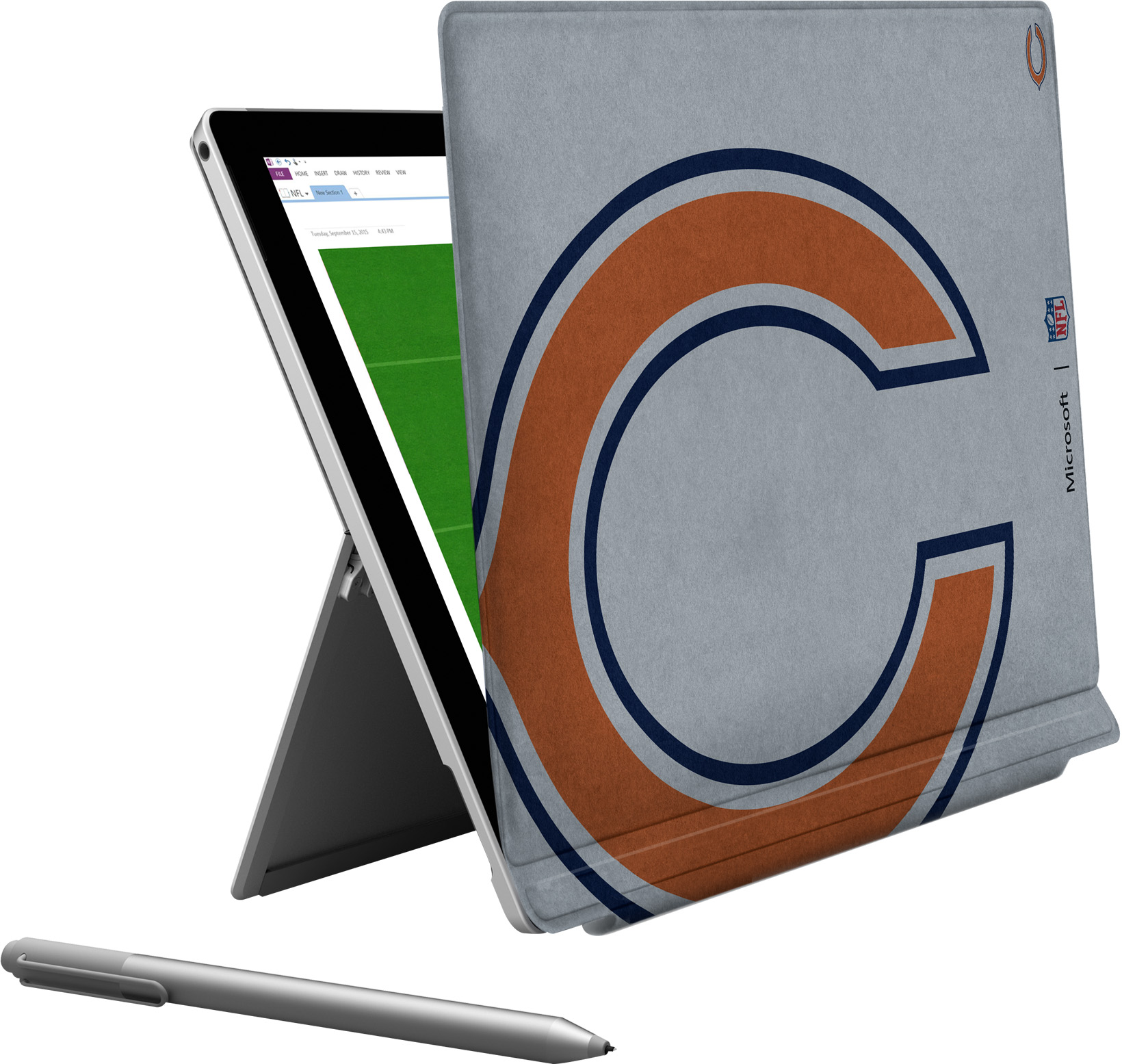 Microsoft Surface Pro 4 Chicago Bears Type Cover