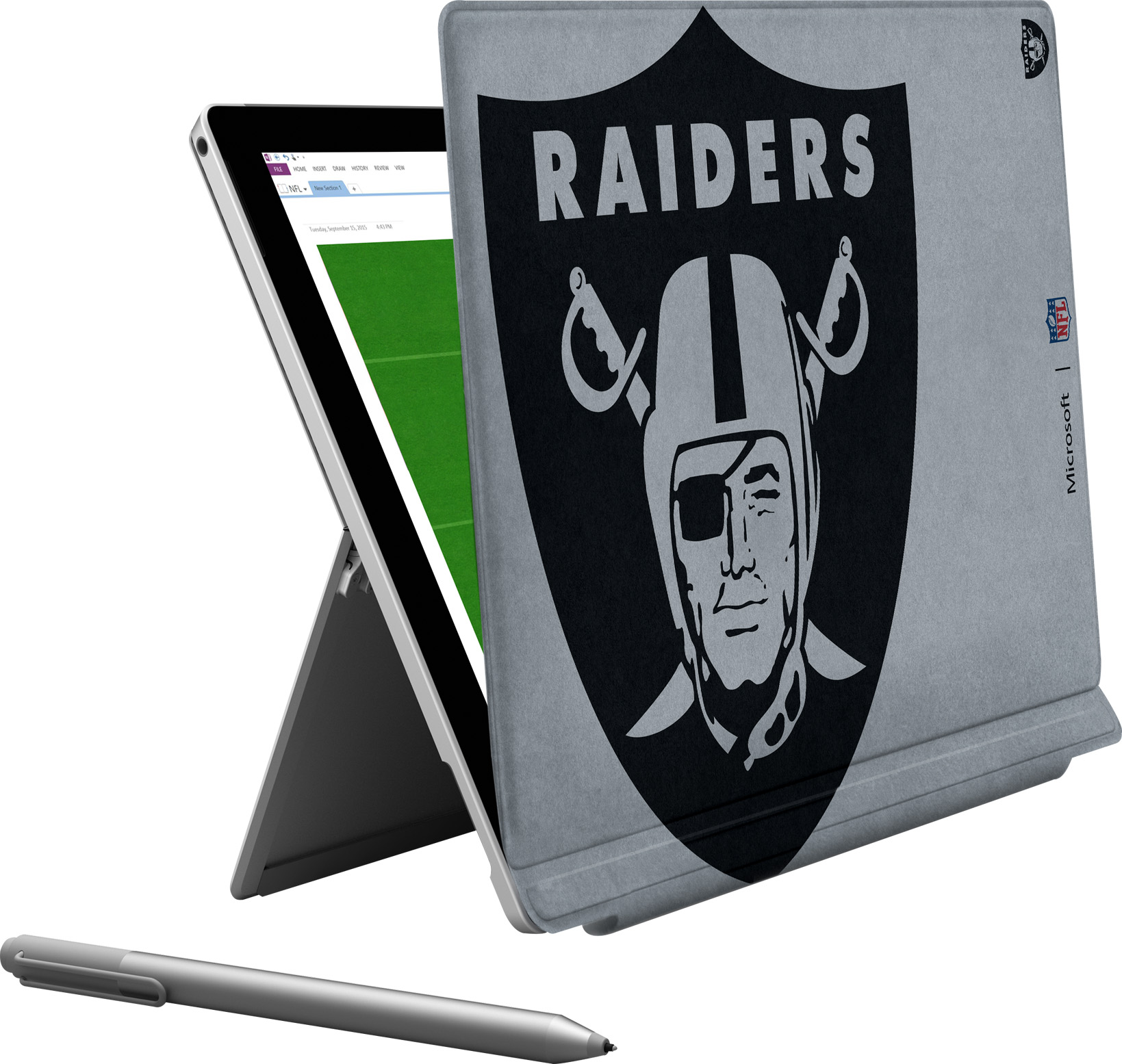 Microsoft Surface Pro 4 Oakland Raiders Type Cover
