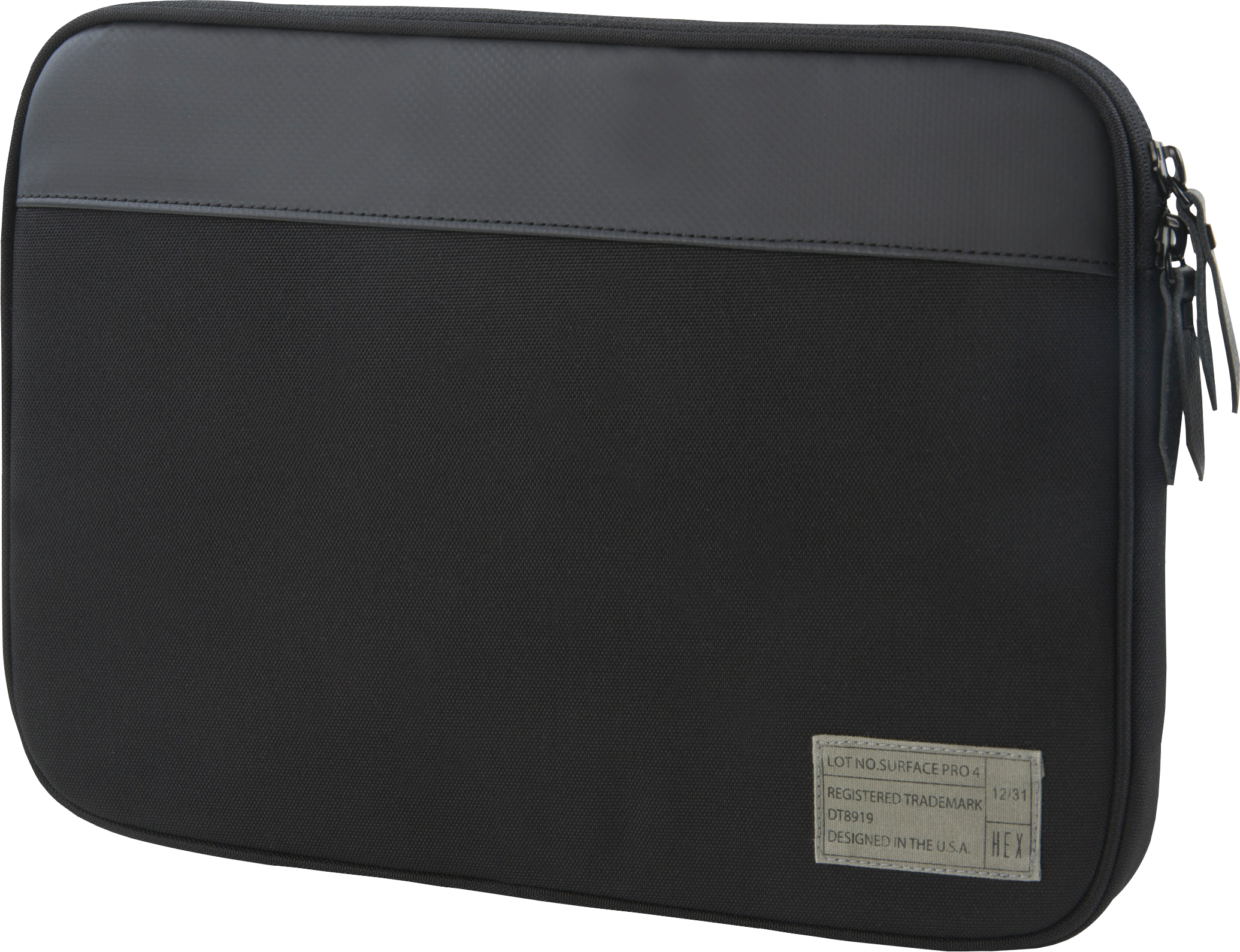 HEX Surface Pro 4 Sleeve with Rear Pocket (Black)