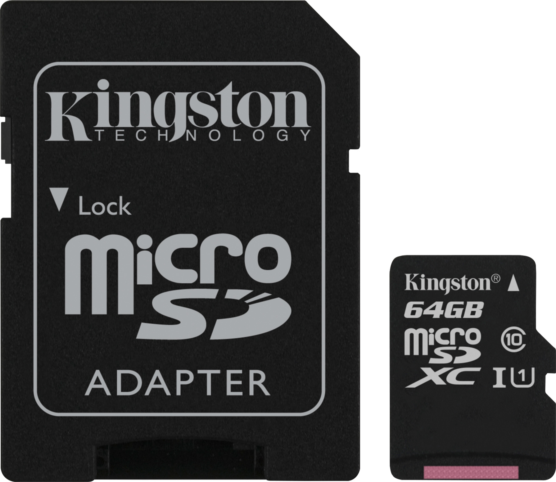 Kingston 64GB microSDHC Class 10 Flash Card + SD Adapter