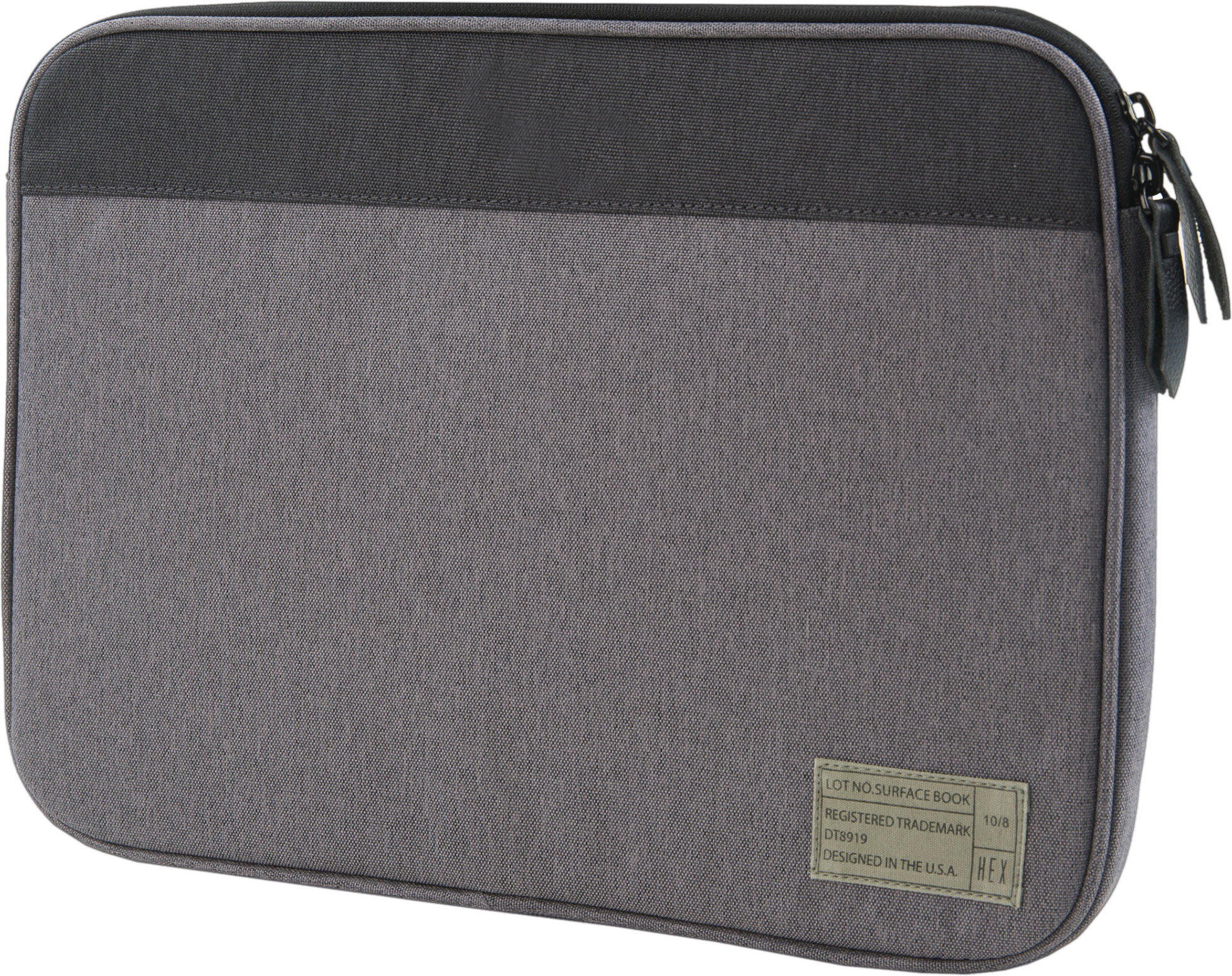 HEX Surface Book sleeve with rear pocket (grey)