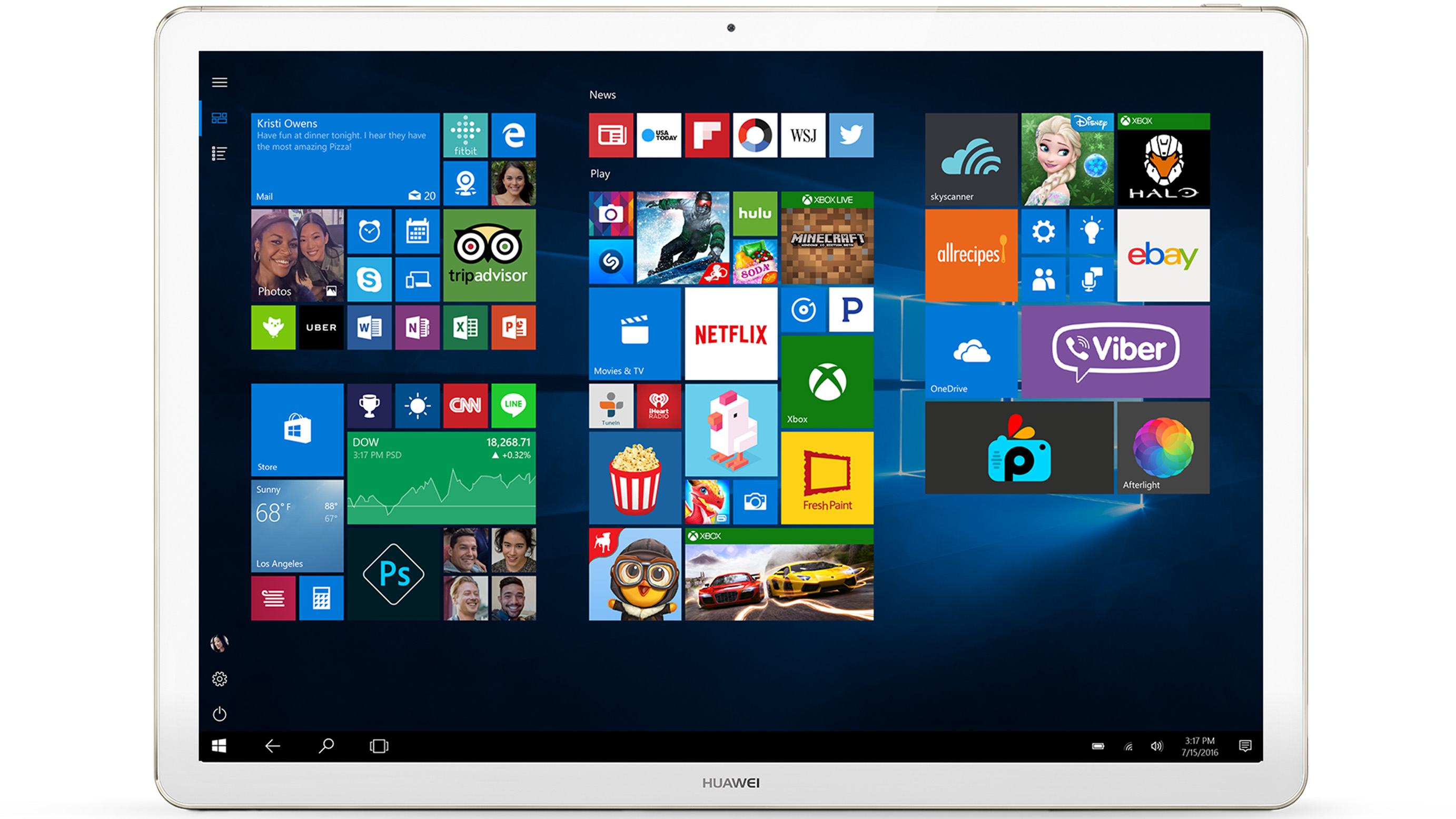 Huawei MateBook Signature Edition 2-in-1 PC, 256GB / Intel Core m5 (Gold)   PC 2-en-1 Huawei MateBook édition Signature, 256Go/IntelCorem5 (or)