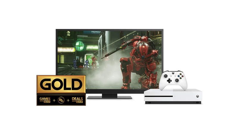 Xbox Gold with Xbox One S console