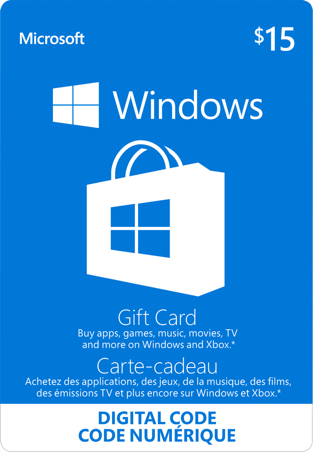 $15 Windows Store Digital Gift Card