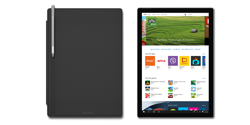 Cubierta de tipo Microsoft Surface Pro 4