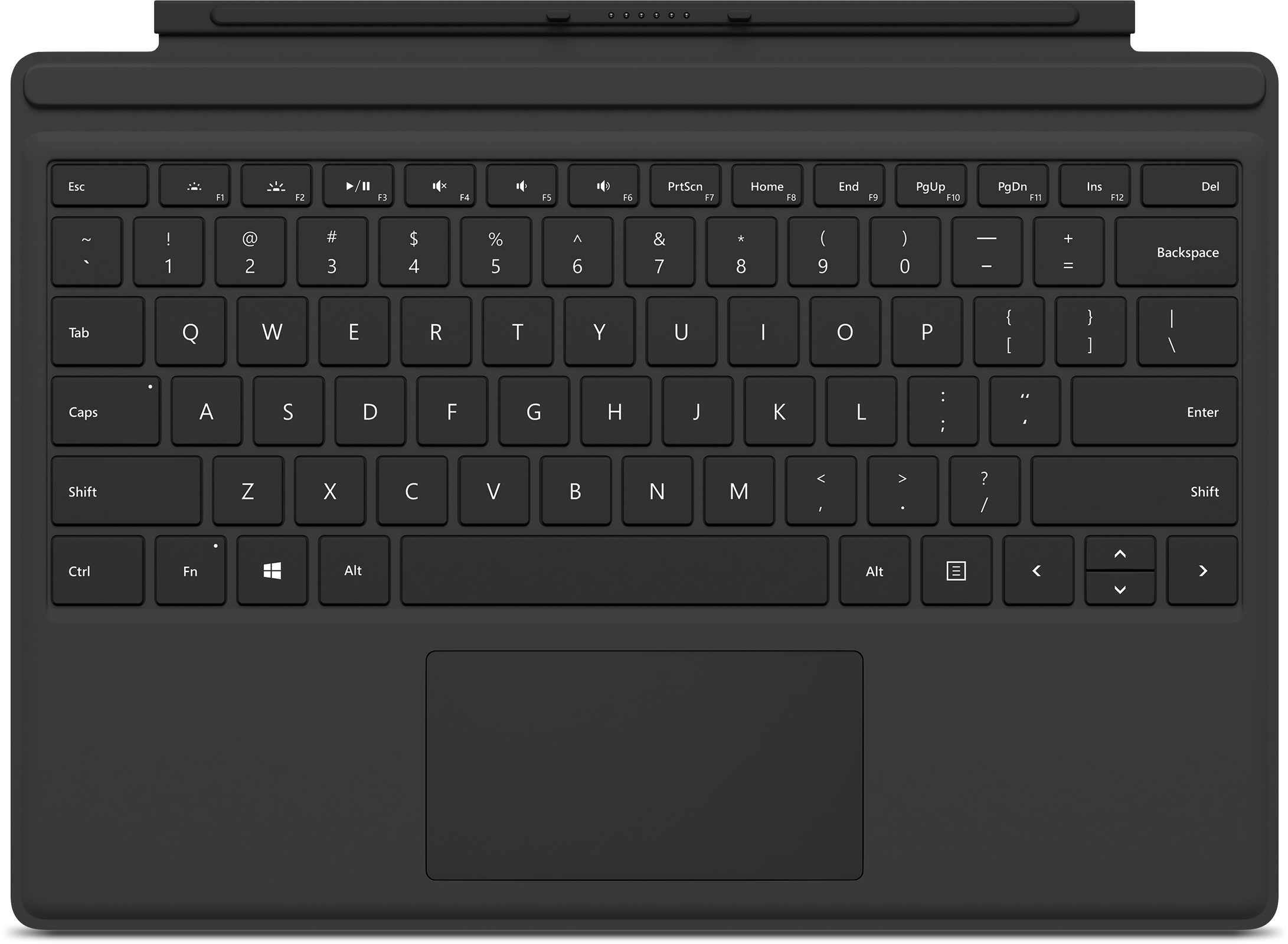 Microsoft Surface Pro 4 Type Cover (Black - English)