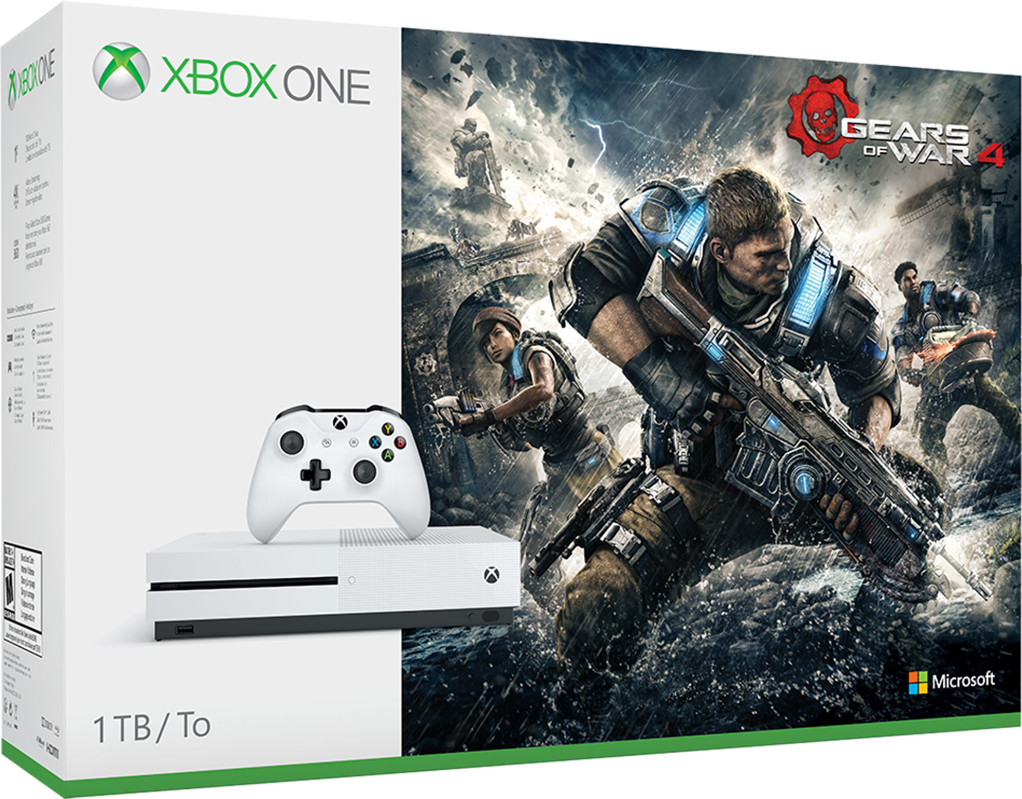 Xbox One S Gears of War 4 -paketti