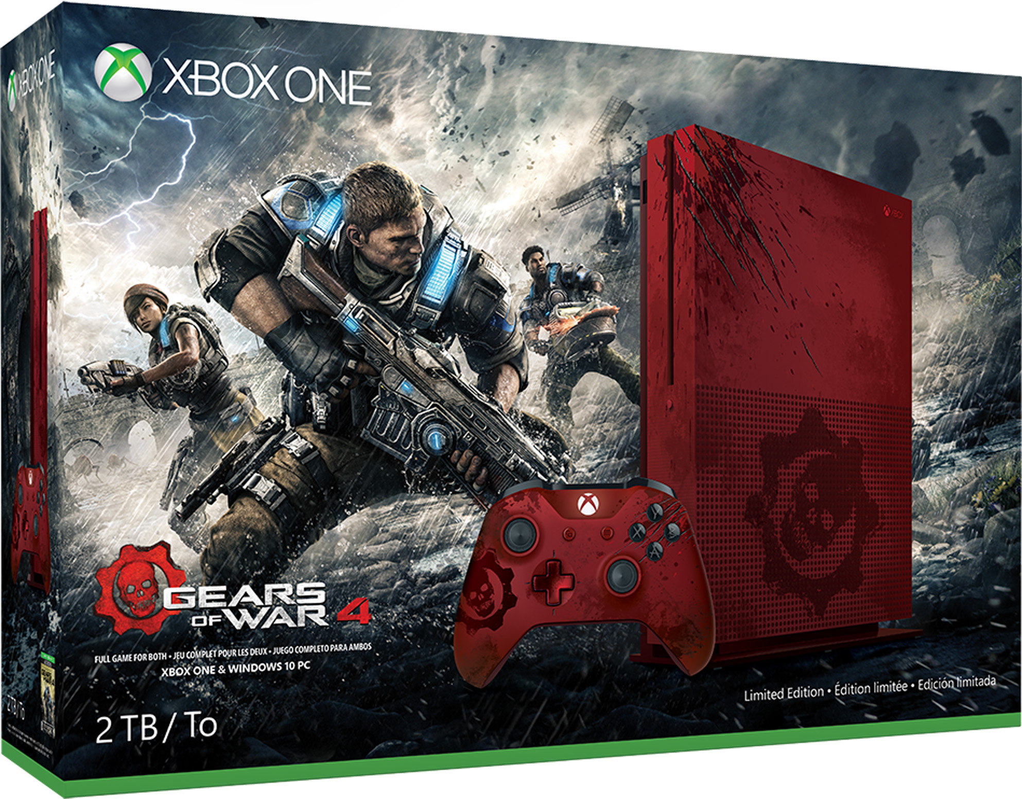 Xbox One S Console - Gears of War 4 Bundles