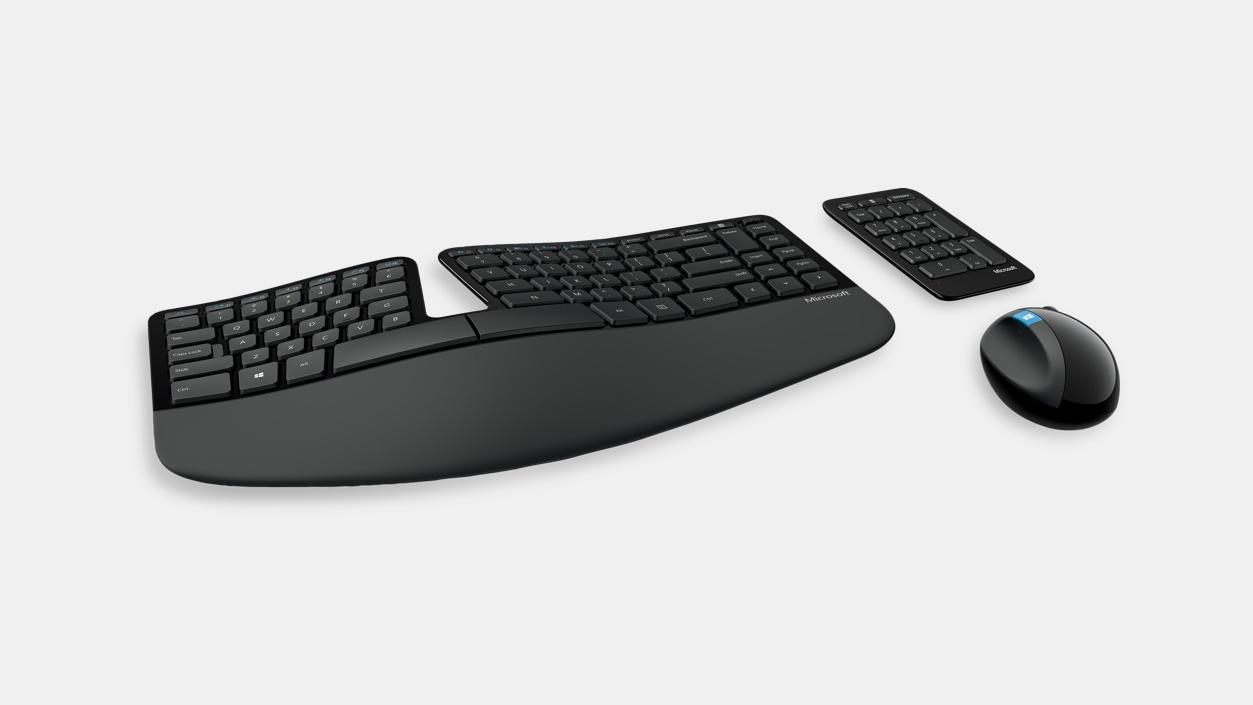 Microsoft Sculpt - the best ergonomic keyboard.